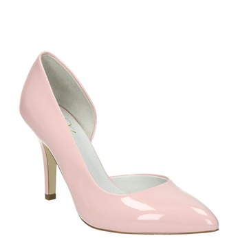 Pink leather pumps insolia, pink , 728-5635 - 13