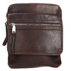 Leather crossbody bag, brown , 964-4237 - 19