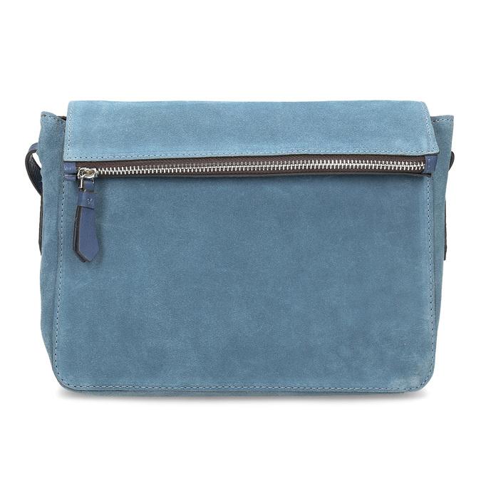 Blue leather crossbody handbag bata, blue , 963-9127 - 26