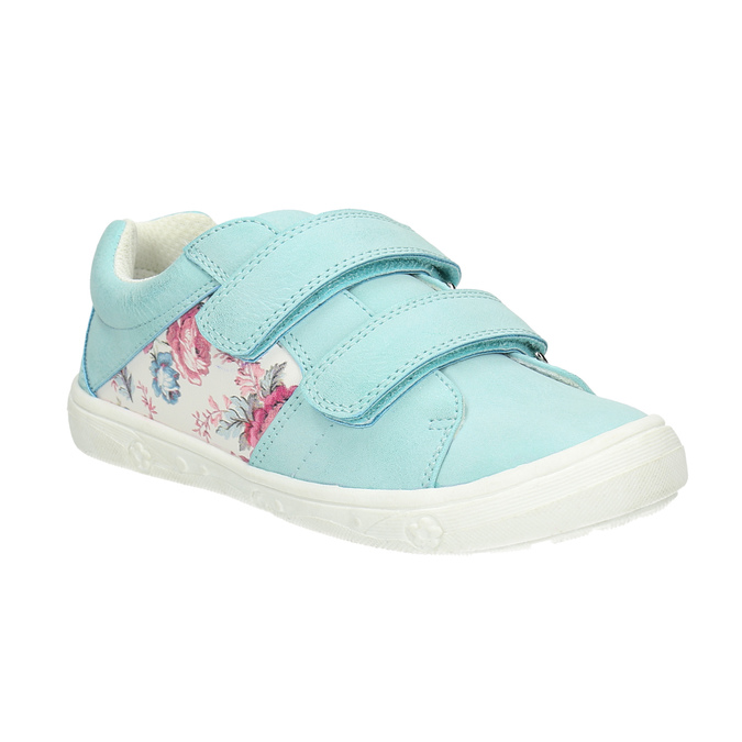 Children's sneakers with floral pattern mini-b, turquoise, 221-7605 - 13