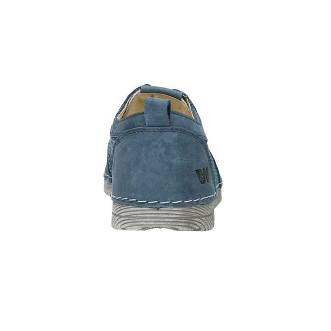 Casual leather shoes weinbrenner, blue , 523-9475 - 17
