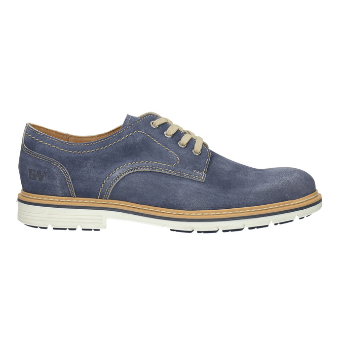 Leather shoes on a contrasting sole weinbrenner, blue , 823-9607 - 15