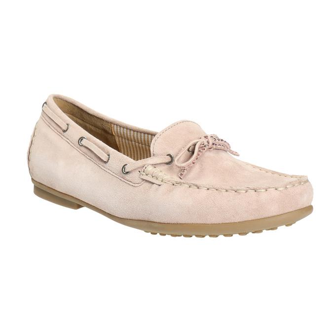 Ladies' leather moccasins gabor, pink , 613-5014 - 13