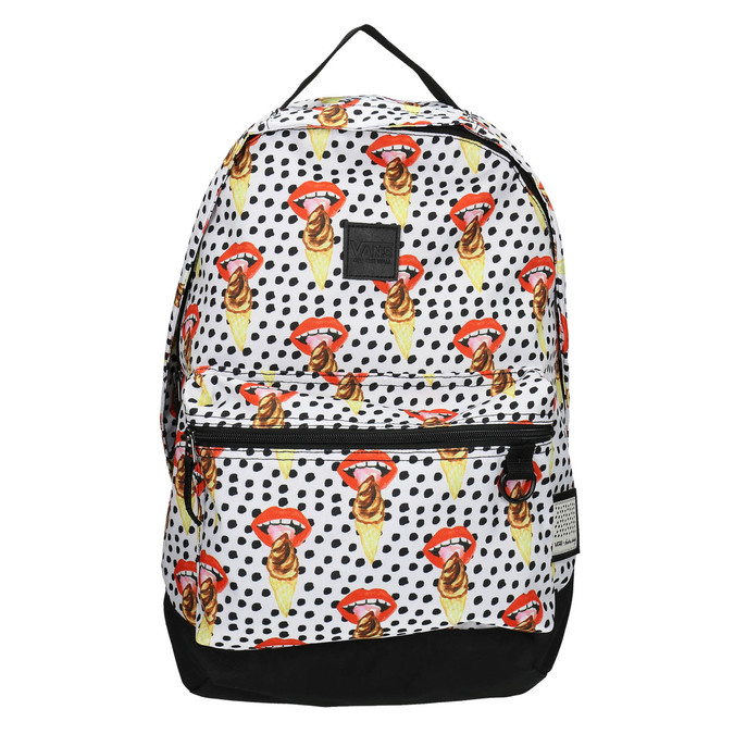 Backpack with pattern and polka dots vans, multicolor, 969-0082 - 19
