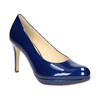 Patent leather pumps hogl, blue , 728-9400 - 13