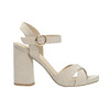 Ladies' sandals with a massive heel bata, beige , 769-8602 - 15