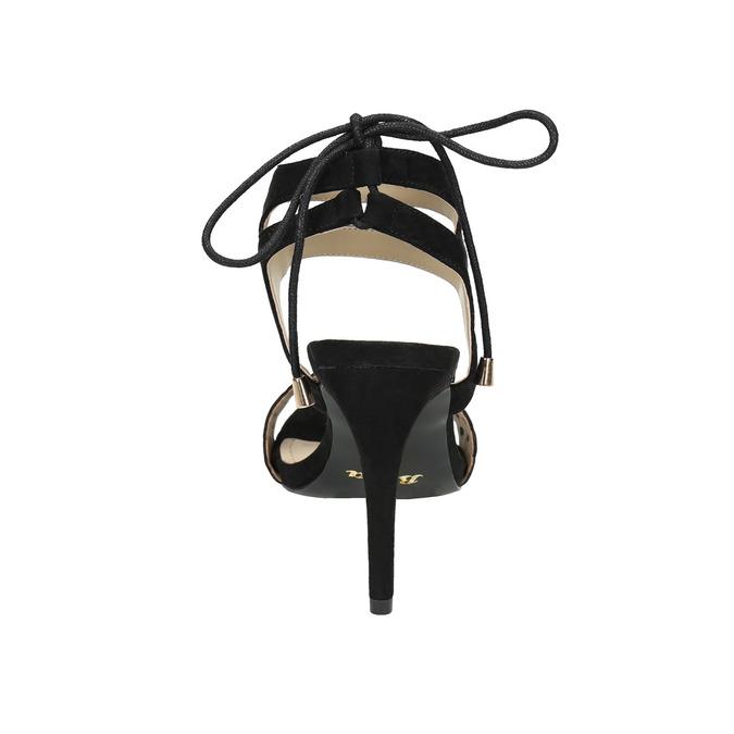 Black stiletto sandals bata, black , 769-6603 - 17