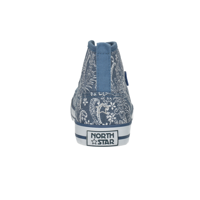 Ladies' patterned ankle sneakers north-star, blue , 589-9442 - 17