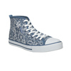 Ladies' patterned ankle sneakers north-star, blue , 589-9442 - 13
