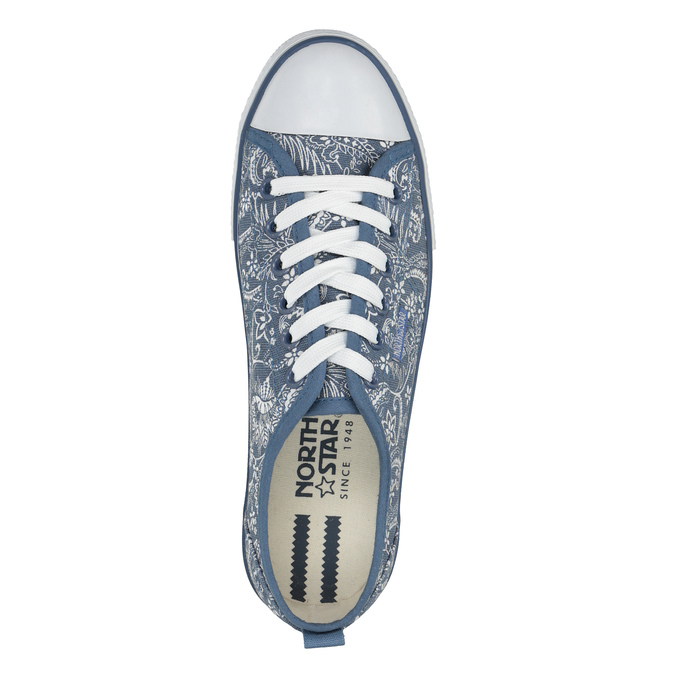 Ladies' patterned sneakers north-star, blue , 589-9445 - 19