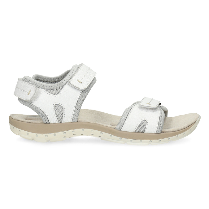 Ladies' leather sandals weinbrenner, white , 566-1608 - 19