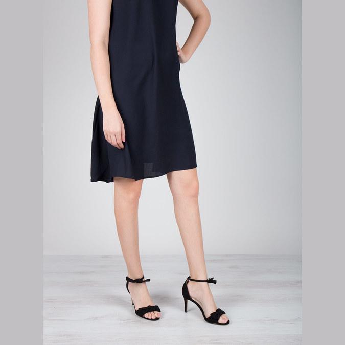 Ladies' black heeled sandals insolia, black , 769-6614 - 18