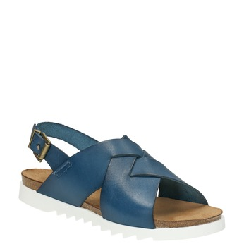 Ladies' leather sandals weinbrenner, blue , 566-9628 - 13
