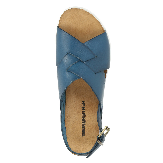 Ladies' leather sandals weinbrenner, blue , 566-9628 - 19