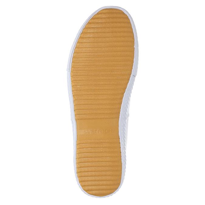 White casual sneakers tomy-takkies, white , 889-1227 - 26