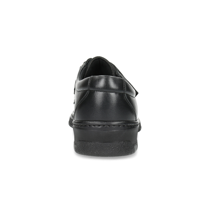 Men's leather shoes with Velcro, black , 824-6543 - 15