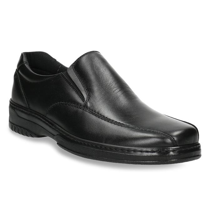 Men's leather moccasins pinosos, black , 814-6622 - 13