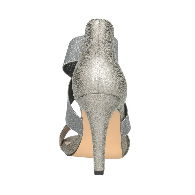 Ladies' heeled sandals bata, gray , 761-2614 - 17