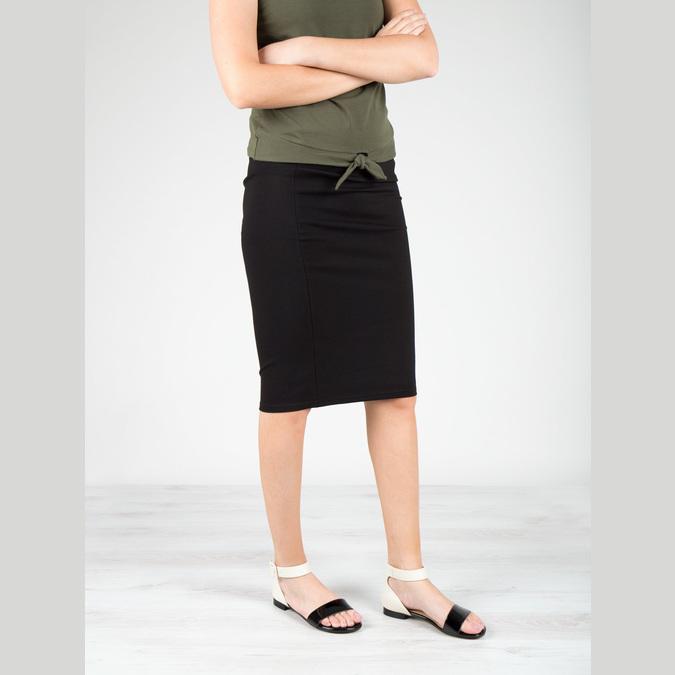 Patent leather sandals bata, black , 568-6606 - 18