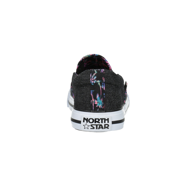 Ladies' slip-ons with coloured trim north-star, black , 589-6440 - 17