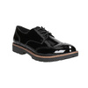 Ladies' patent oxford shoes bata, black , 521-6606 - 13