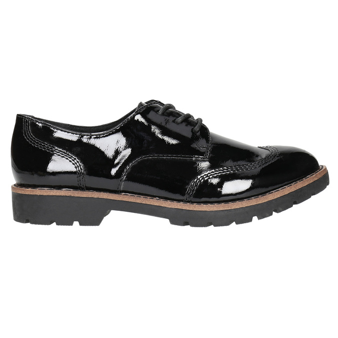 Ladies' patent oxford shoes bata, black , 521-6606 - 15