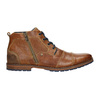 Leather ankle boots with a zipper bata, brown , 826-3911 - 15