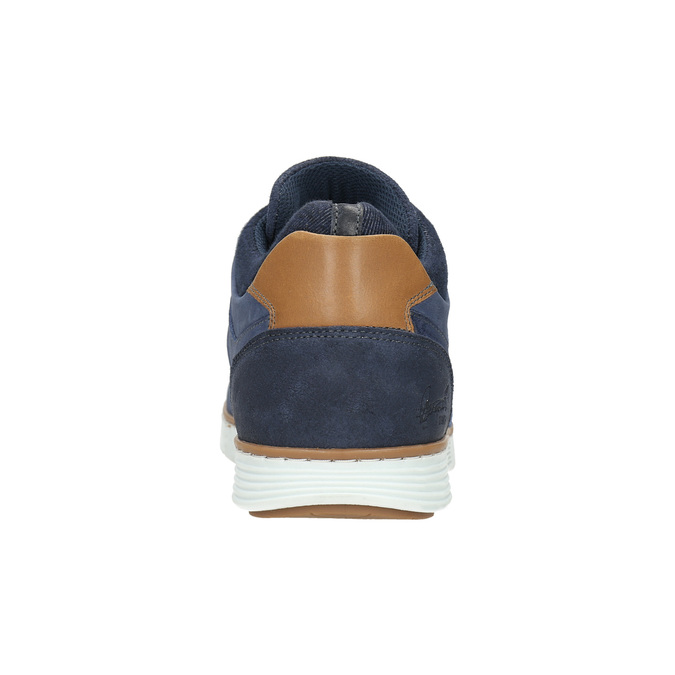 Leather high-top sneakers bata, blue , 846-9641 - 17