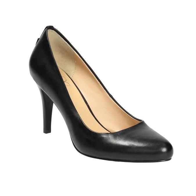Ladies' leather pumps, black , 724-6649 - 13