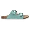 Blue leather sandals de-fonseca, turquoise, 573-7621 - 15
