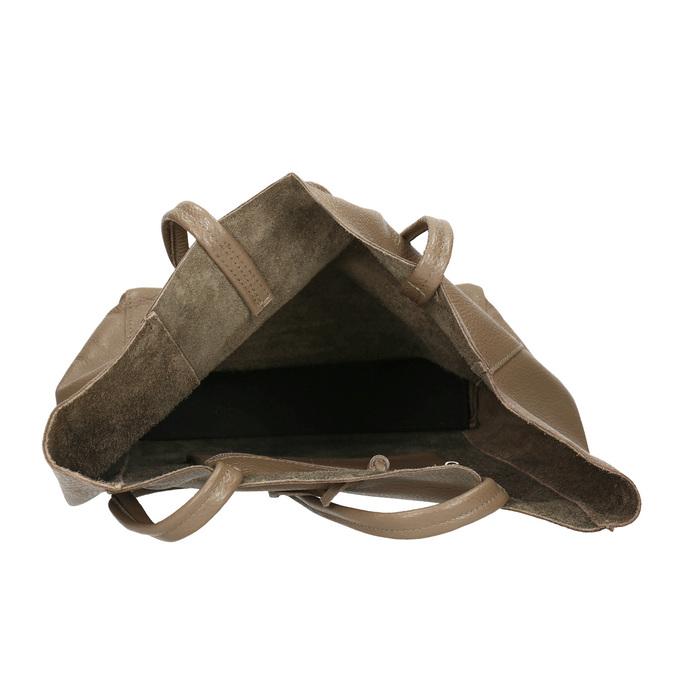 Ladies' leather handbag with bow bata, beige , 964-2122 - 15