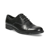 Ladies' leather shoes with stitching bata, black , 524-6661 - 13