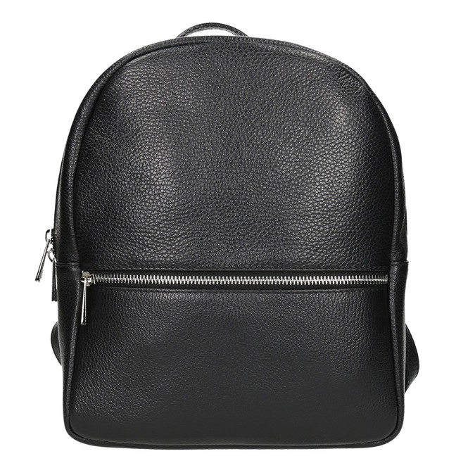Black leather backpack bata, black , 964-6240 - 26