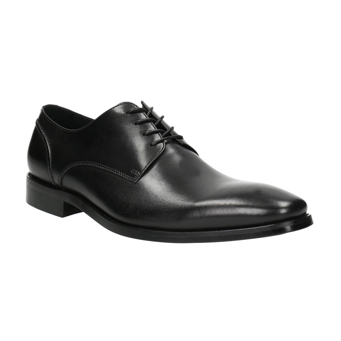 Black leather Derby shoes bata, black , 824-6405 - 13