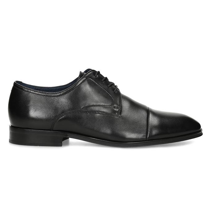 Men's leather Derby shoes, black , 824-6406 - 19
