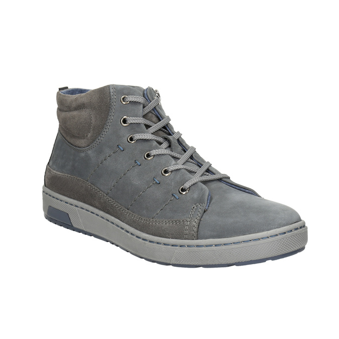 Men's ankle sneakers bata, gray , 846-2651 - 13