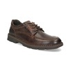 Men's leather shoes with distinctive sole bata, brown , 826-4917 - 13
