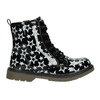 Lace-Up Boots with Stars mini-b, black , 291-6167 - 26