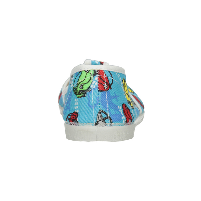 Children's Slippers with Cars bata, blue , 279-9105 - 16