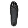 Leather ballerinas with stitching comfit, black , 526-6638 - 26