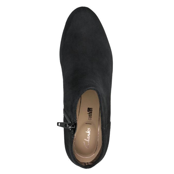 Leather Ankle Boots with Heel clarks, black , 713-6035 - 15