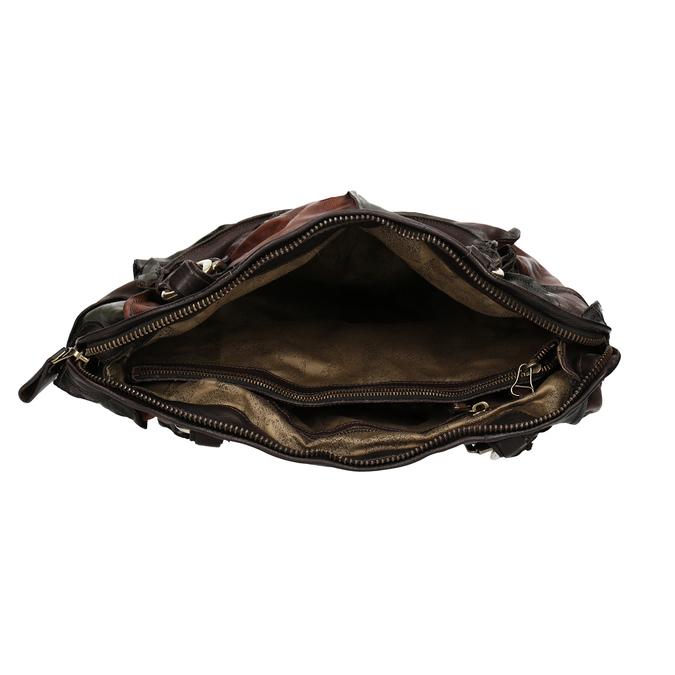 Leather Patchwork Handbag a-s-98, multicolor, 966-0062 - 15