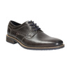 Casual textured leather shoes bata, gray , 826-2612 - 13