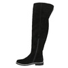 Brushed leather over-knee high boots bata, black , 593-6605 - 26