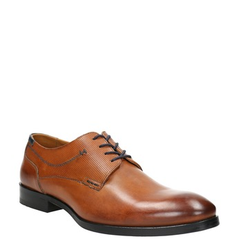 Men's brown Derby shoes bata, brown , 826-3915 - 13