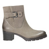 Leather ankle boots with a buckle bata, gray , 696-2621 - 15