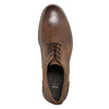 Men's leather shoes with stitching bata, brown , 826-4610 - 26