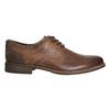 Men's leather shoes with stitching bata, brown , 826-4610 - 15