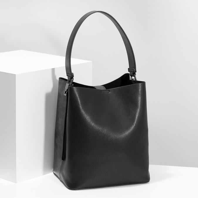 Black ladies Hobo handbag bata, black , 961-2173 - 17