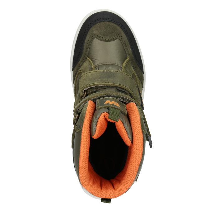 Children's Leather Winter Boots weinbrenner-junior, green, 493-7612 - 15